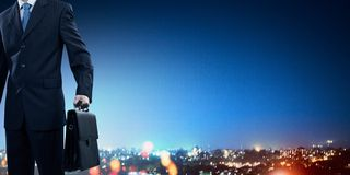 Большой город никогда не спит Стоковая Фотография