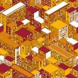 Большой городок в равновеликом взгляде дома делают по образцу безшовное Стоковое Изображение RF