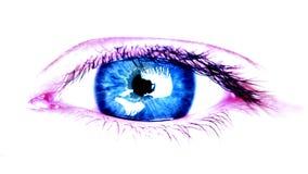 Большой глаз женщины видеоматериал