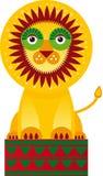 Большой лев в circuson белая предпосылка вектор Стоковые Фотографии RF