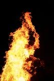 Большой желтый костер Стоковая Фотография RF