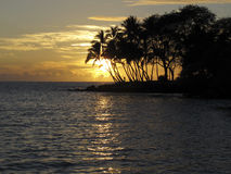 большой заход солнца острова Стоковое фото RF