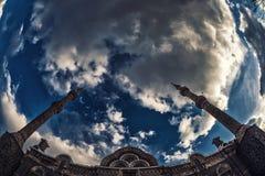 Большой заход солнца собора (мечеть Fethiye) Стоковое фото RF