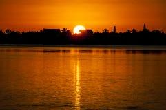 Большой заход солнца шарика Стоковое Изображение RF