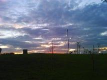 большой заход солнца стоковые фотографии rf