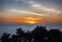 Большой заход солнца Sur Стоковое Изображение