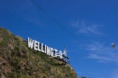 Большой знак Веллингтона Стоковое Фото