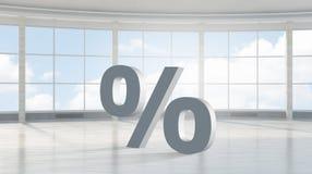 Большой знак процента Мультимедиа Стоковое Изображение RF