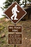 Большой знак улицы безопасности скрещивания ноги Стоковые Фотографии RF