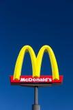 Большой знак McDonald Стоковые Фото