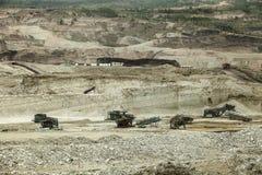 Большой лигнит Таиланд минирования стоковые фотографии rf