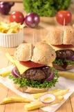 Большой и вкусный бургер Стоковые Фотографии RF