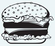 Большой и вкусный гамбургер иллюстрация штока