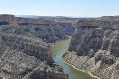 Большой каньон рожка, Монтана, США Стоковое фото RF