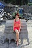 Большой ковш экскаватора Стоковые Фото