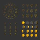 Большой комплект астрологических символов Стоковые Фотографии RF
