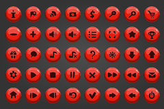 Большой комплект кнопки вектора Стоковое Фото