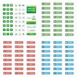 Большой комплект кнопки сети обслуживания Стоковая Фотография RF