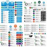 Большой комплект кнопки сети потребителя Стоковые Изображения RF