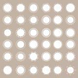 Большой комплект кружевных салфеток Стоковое фото RF