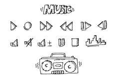 Большой комплект музыки иллюстрация вектора