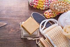 Большой комплект пучка мыла бара аксессуаров комнаты ванны Стоковая Фотография