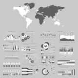 Большой комплект элементов infographics Иллюстрация вектора для busine Стоковое Изображение RF