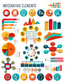 Большой комплект элементов infographics образования Стоковая Фотография RF