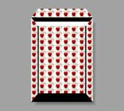 Большой конверт сделанный сердец томата Стоковое Изображение RF