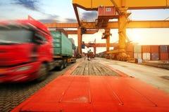 Большой контейнерный терминал стоковая фотография rf