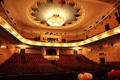Большой концертный зал в театре Стоковые Изображения