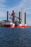 Большой корабль в порте Гдыни, Польши. Стоковые Фото