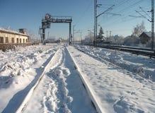 Большой кран под снегом Стоковые Изображения RF