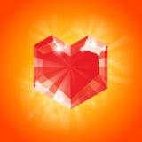 большой красный цвет сердца Стоковая Фотография RF