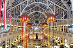 Большой магазин в Дублине во время праздников рождества (Ирландии - Eire) Стоковое Фото