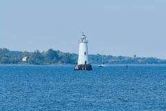 Большой маяк кроватей в южном Amboy Нью-Джерси стоковое фото