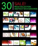 Большой мега комплект абстрактных предпосылок, продажа Стоковое Изображение RF
