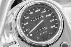Большой метр скорости мотоцикла Стоковые Изображения