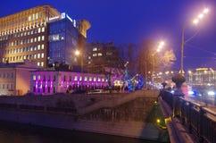 Большой мост Krasnokholmsky стоковая фотография