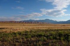 Большой национальный парк песчанных дюн в Колорадо Стоковое фото RF