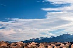 Большой национальный парк песчанных дюн в Колорадо Стоковая Фотография