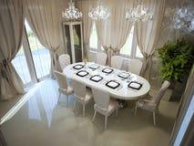 Большой обеденный стол в комнате spacy Стоковое Фото