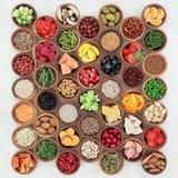 Большой образец здоровой еды Стоковое Изображение RF