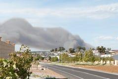 Большой огонь куста в Перте Стоковые Фотографии RF