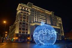 Большой орнамент праздника на квадрате Manezh Стоковые Изображения