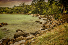 Большой остров Стоковое Изображение RF