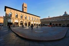 Большой открытый квадрат в болонья, Италии Стоковое Изображение