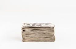Большой пакет изолированных долларов Стоковые Изображения RF