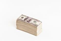 Большой пакет изолированных долларов Стоковое Фото