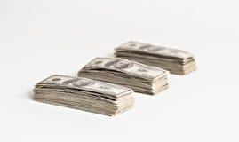 Большой пакет изолированных долларов Стоковая Фотография RF